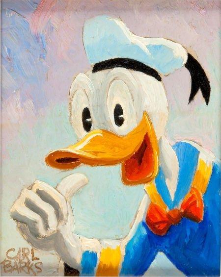 92013: Carl Barks Donald Duck Painting Original Art (c.