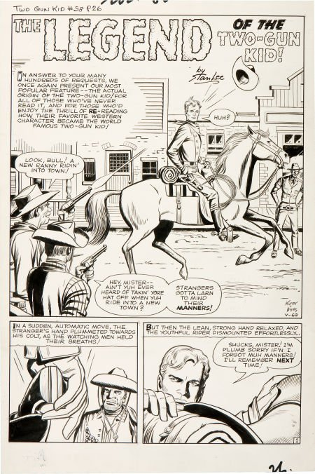 92200: Jack Kirby and Dick Ayers Two-Gun Kid #58 Title