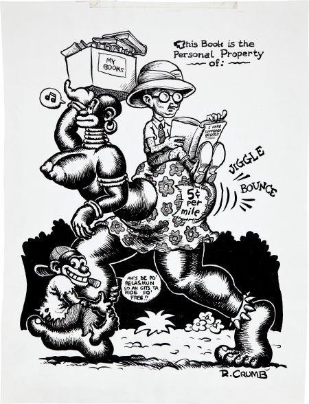 92374: Robert Crumb Snatch Sampler Cover/Bookplate Illu