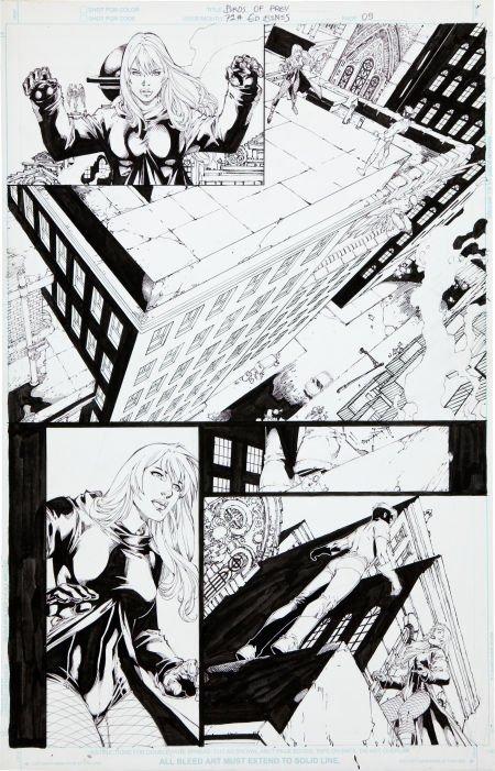 92015: Ed Benes Birds of Prey #73 Page 9 Original Art (