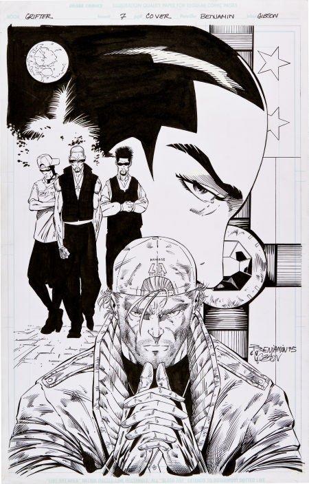 92016: Ryan Benjamin and Chuck Gibson Grifter #7 Cover