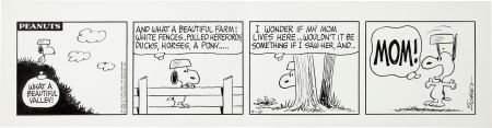 92296: Charles Schulz Peanuts Daily Comic Strip Origina