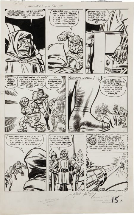 """92207: Jack Kirby and Dick Ayers Fantastic Four #16 """"Th"""