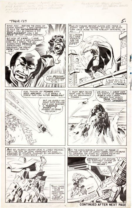 92209: Jack Kirby and Vince Colletta Thor #127 Page 5 O
