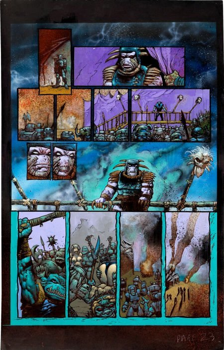 92023: Simon Bisley and Kevin Eastman Melting Pot Book