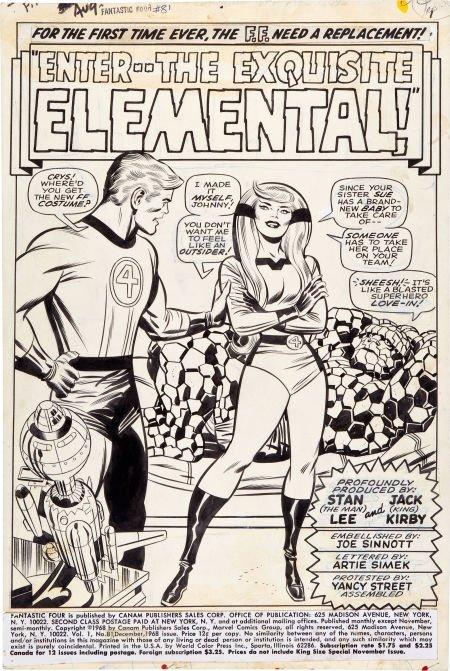 92213: Jack Kirby and Joe Sinnott Fantastic Four #81 Sp