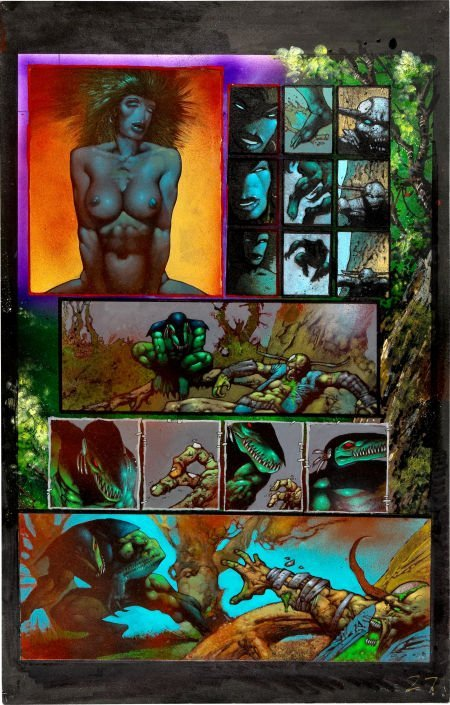 92027: Simon Bisley and Kevin Eastman Melting Pot Book