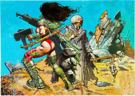 92030: Simon Bisley Heavy Metal F.A.K.K. 2 Pin Up Origi