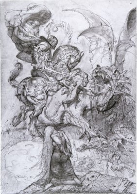 Simon Bisley Saint George And The Dragon Illustr