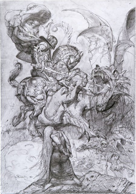 92036: Simon Bisley Saint George and the Dragon Illustr