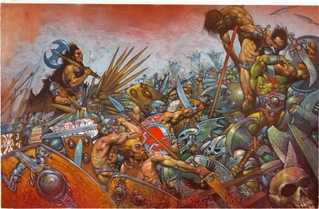 "92037: Simon Bisley 2000 AD ""Slaine: The Horned God"" Il"