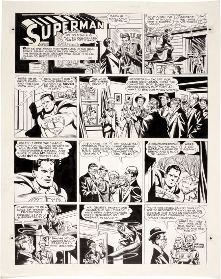 92039: Wayne Boring Superman Sunday Comic Strip #478 Or