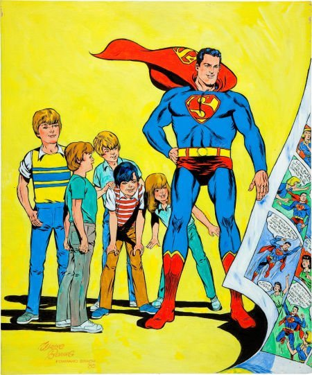 92042: Wayne Boring Superboy #1 Cover Re-Creation Paint