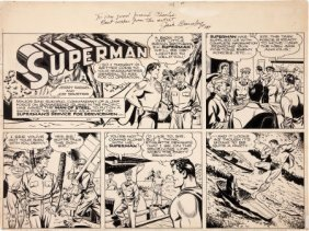 Jack Burnley Partial Superman Sunday #237 Comic