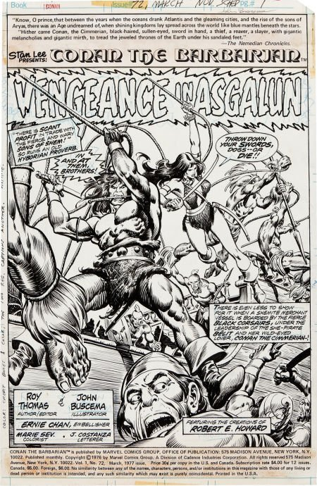 92048: John Buscema and Ernie Chan Conan the Barbarian