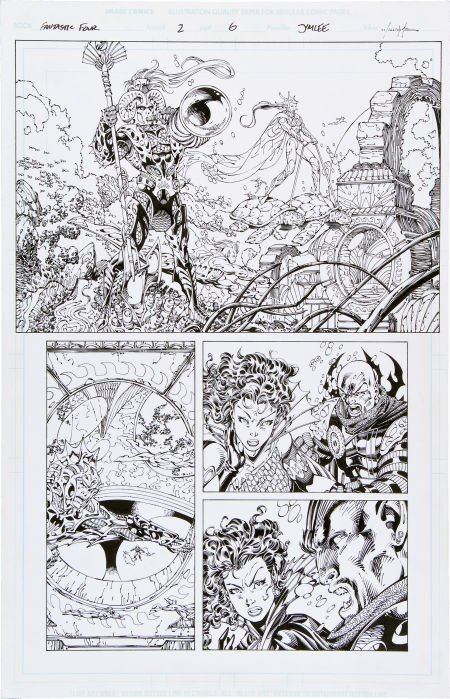 92236: Jim Lee and Scott Williams Fantastic Four #2 Pag