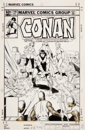 John Buscema Conan #146 Cover Original Art (Marv