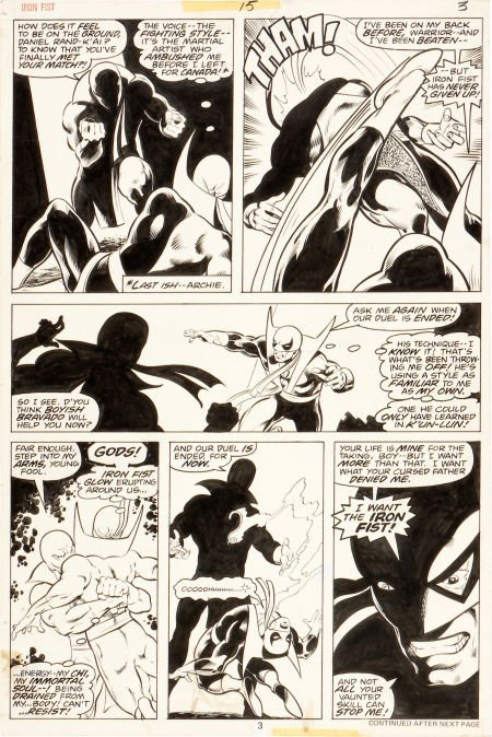 92056: John Byrne and Dan Green Iron Fist #15 Page 3 Or