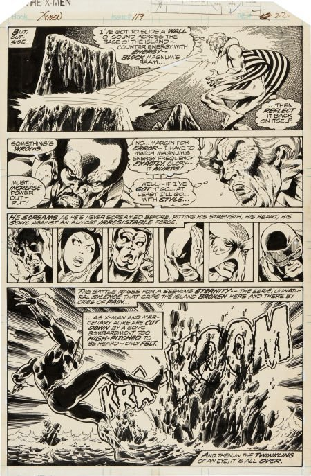 92057: John Byrne and Terry Austin X-Men #119 Page 22 O