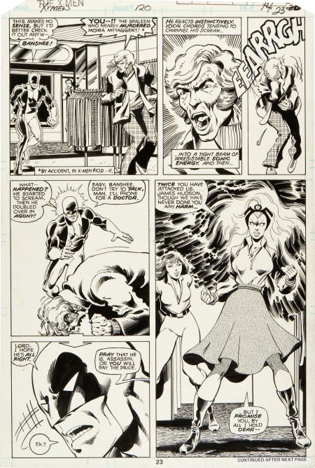 92058: John Byrne and Terry Austin X-Men #120 Page 23 O