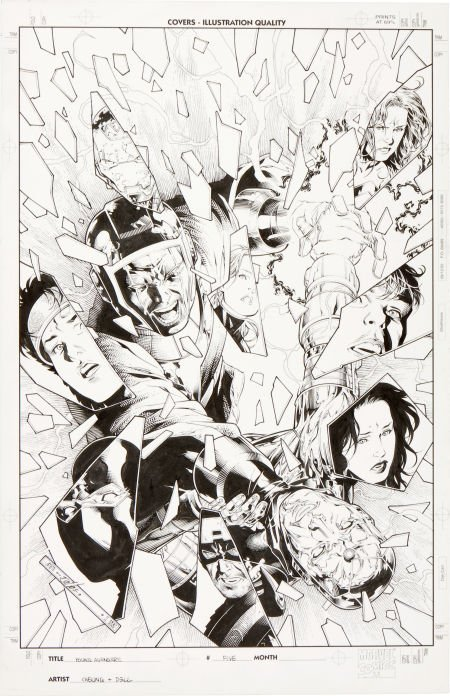 92071: Jim Cheung and John Dell Young Avengers #5 Cover