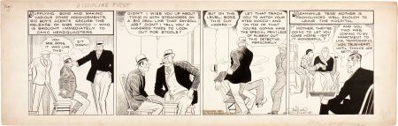 92165: Chester Gould Dick Tracy Daily Comic Strip Origi