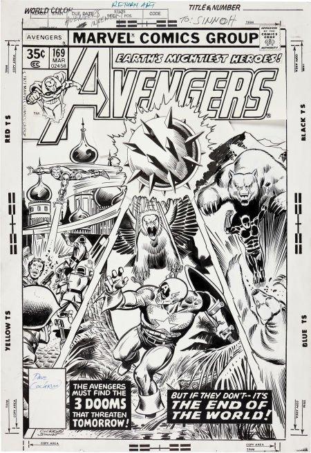 92073: Dave Cockrum and Joe Sinnott The Avengers #169 C