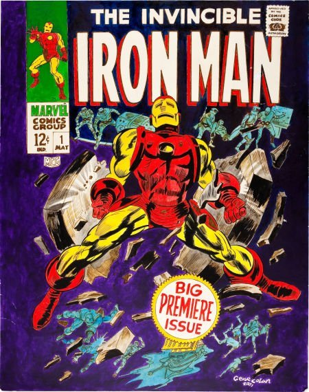 92078: Gene Colan Iron Man #1 Cover Re-Creation Origina