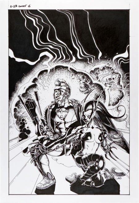 92082: Richard Corben C-23 #6 Cover Original Art (Image