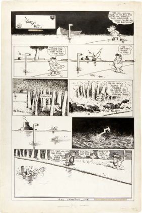 George Herriman Krazy Kat Sunday Comic Strip Ori