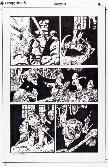 92084: Richard Corben Hellboy: The Crooked Man #3 Page