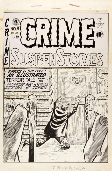 92086: Johnny Craig Crime SuspenStories #8 Cover Origin