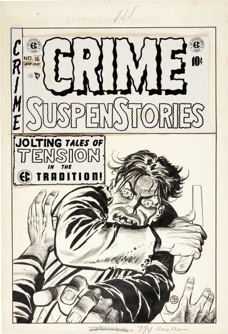 92088: Johnny Craig Crime SuspenStories #16 Cover Origi