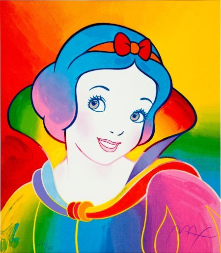 92450: Peter Max Snow White Lithograph Print 383/500 (1