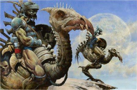 92090: Carl Critchlow Scouts Fantasy Illustration Origi