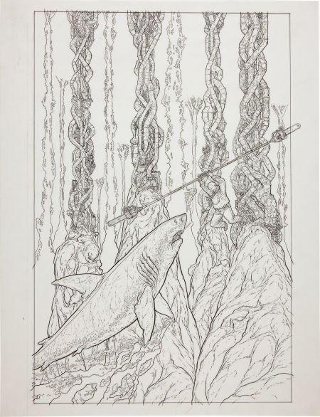 92091: Geof Darrow Shaolin Cowboy #6 Cover Original Art