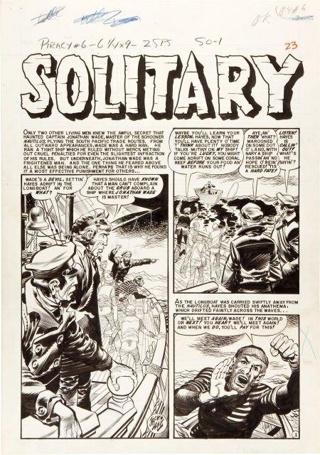 """92093: Jack Davis Piracy #6 Complete 7-Page Story """"Soli"""