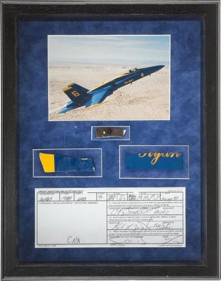 40001: Blue Angels: F/A-18 Hornet Original Memorabilia