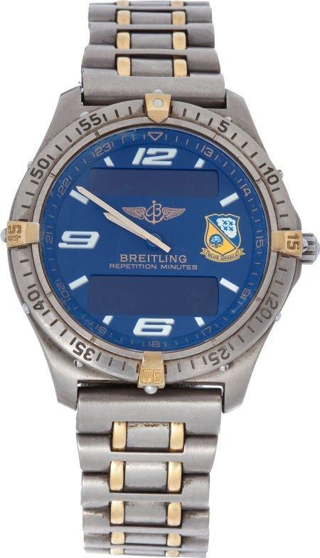 40003: Breitling Blue Angels Edition Aerospace Quartz W