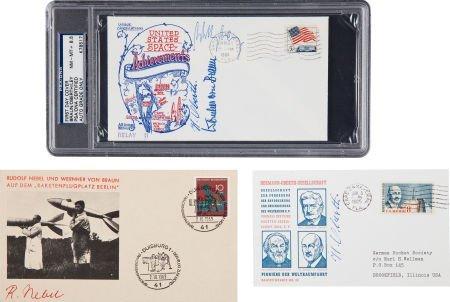 40026: Wernher von Braun, Hermann Oberth, Willy Ley, an