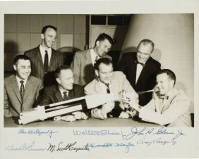 """Mercury Seven"" NASA Astronaut Group One Photo S"