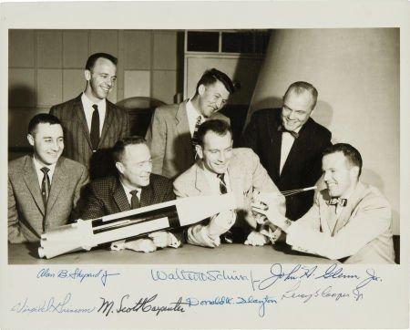 "40030: ""Mercury Seven"" NASA Astronaut Group One Photo S"
