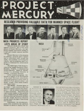 """""""Mercury Seven"""" 1959 NASA """"Project Mercury"""" Publ"""