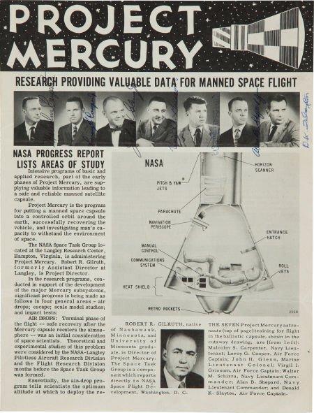 """40031: """"Mercury Seven"""" 1959 NASA """"Project Mercury"""" Publ"""