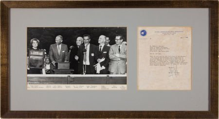 40121: Neil Armstrong Typed Letter Signed.
