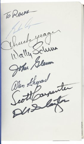 """Mercury Seven"" The Right Stuff Book Signed By S"