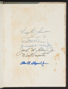 """Mercury Seven"" Project Mercury Book Signed By S"