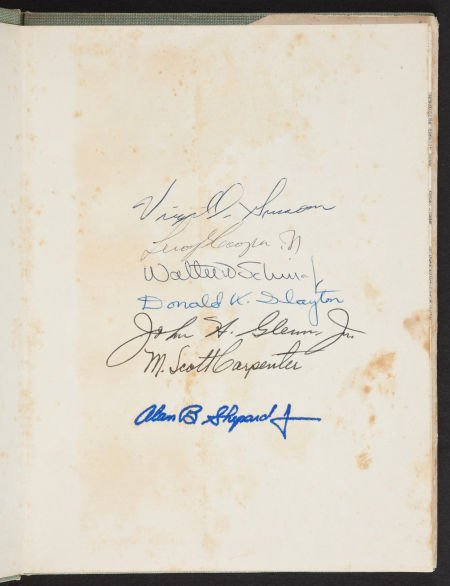 """40033: """"Mercury Seven"""" Project Mercury Book Signed by S"""
