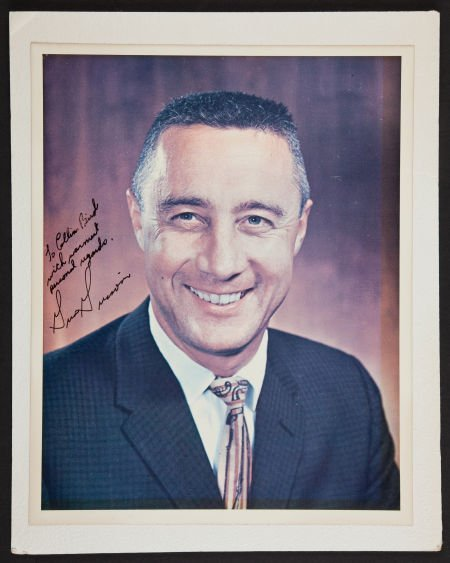 40035: Gus Grissom Signed Color Photo.