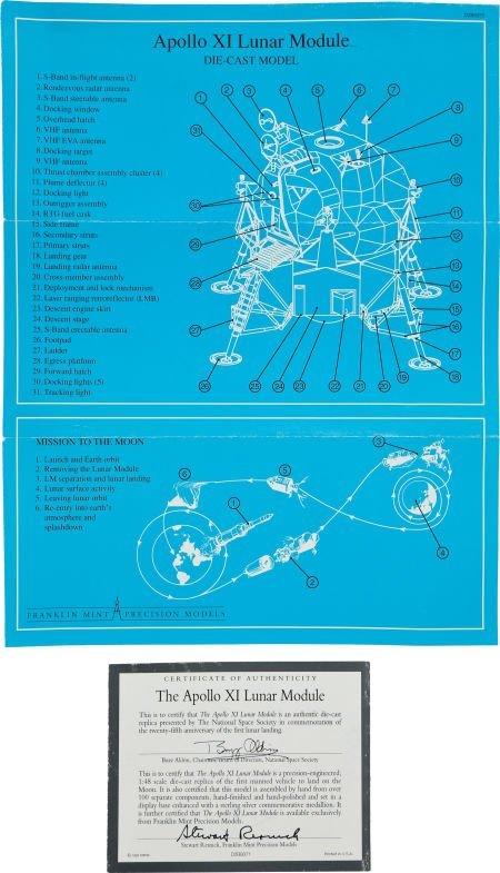 40125: Apollo 11: Franklin Mint Lunar Module 1:48 Die C